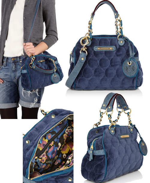 Juicy Couture Circle Quilted Velour Bag