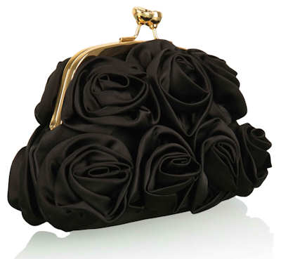 Love Moschino Black Corsage Bag