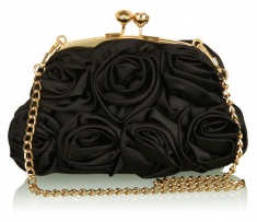 Love Moschino Black Rose Bag with chain