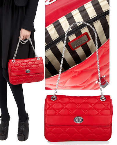 Lulu Guinness Quilted Lips Anna Bag