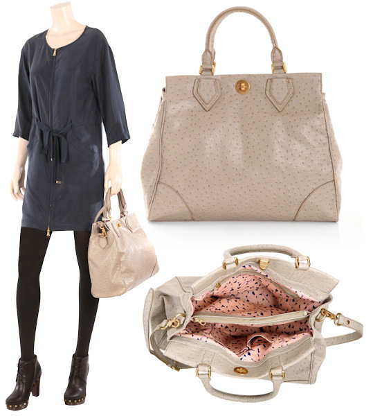 Marc by Marc Jacobs Lucy Ostrich Tote
