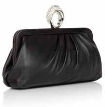 Cheap and Chic Moschino Cocktail Ring Clutch Black