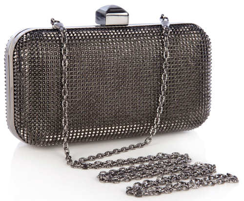 Halston Heritage Susan Clutch in Grey Jewels