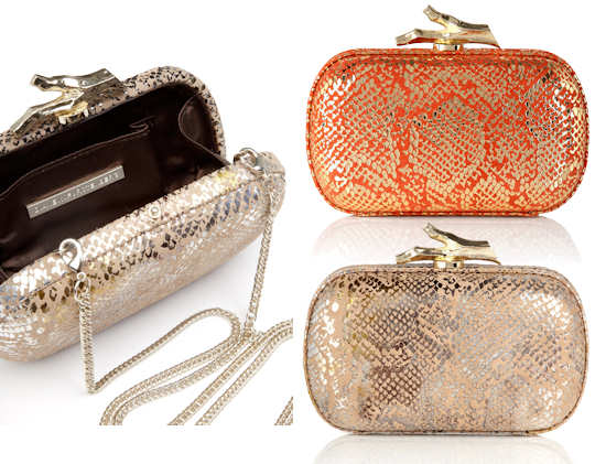 DVF Lytton Snakeskin Clutch
