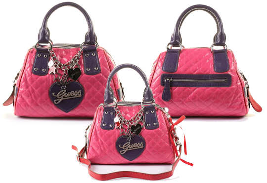 Guess Quilted Bowler Bag