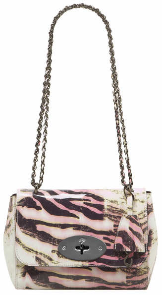 Mulberry Bayswater Pink Trippy Tiger Lily Bag