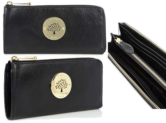 Mulberry Daria Slim Zip Wallet in Black f021e871d660b