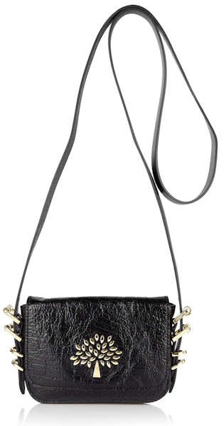 Mulberry Mila Mini Bag In Patent Black Leather