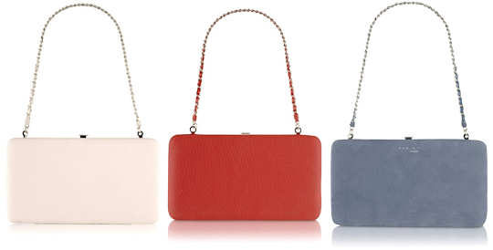 Radley Ealing Large Frame Shoulder Bags in Ivory, Red and Blue