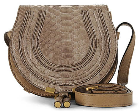 Chloe Small Marcie Bag In Python Exclusive To Selfridges