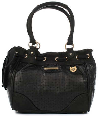 Juicy Couture Black Daydreamer Leather Handbag