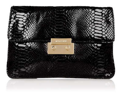 Michael by Michael Kors Sloan Clutch Bag in Black Snakeskin