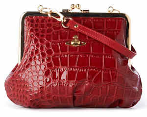 Vivienne Westwood Chancery Frame Clutch in Red