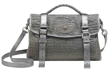 Mulberry Alexa Grey Metallic Cotton Weave