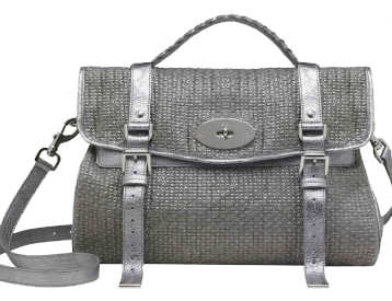 Mulberry Oversized Alexa Grey Metallic Cotton Weave