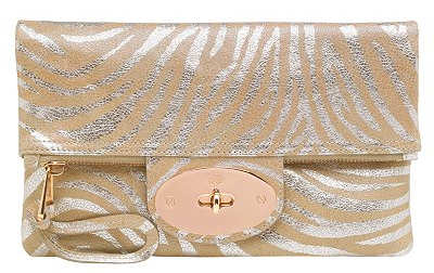 Mulberry Bayswater Clutch in Rose Gold and Champagne