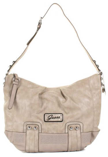 Guess Joelle Satchel Bag in Stone