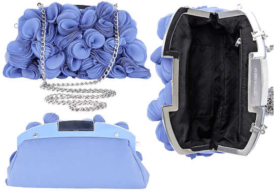 Karen Millen Satin Flower Clutch