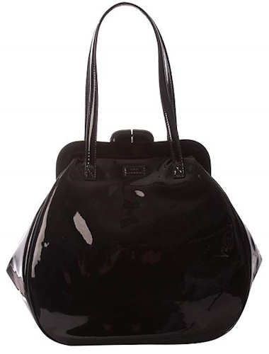 Lulu Guinness Black Patent Leather Pollyanna Bag