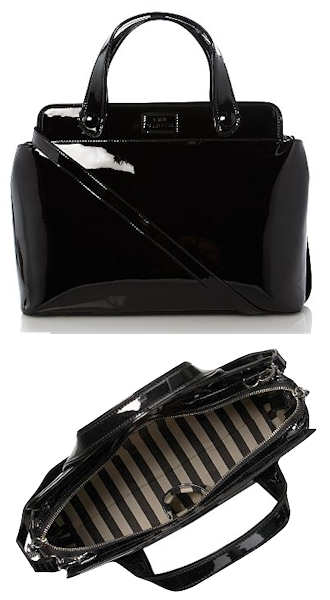 Lulu Guinness Hillary Bag in Black Patent Leather