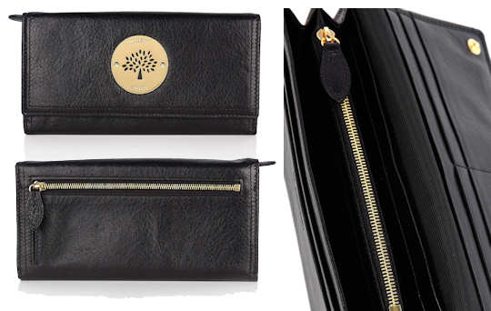 Mulberry Daria Continental Wallet in Black