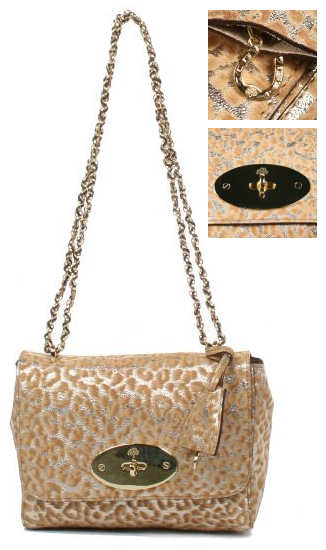 Mulberry Lily Gold Glitter Leopard Bag