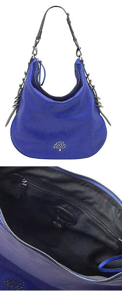 Mulberry Mila Hobo Bag in Electric Blue