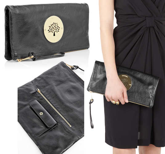 Mulberry Black Daria Clutch