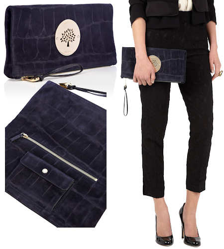 Mulberry Midnight Daria Clutch