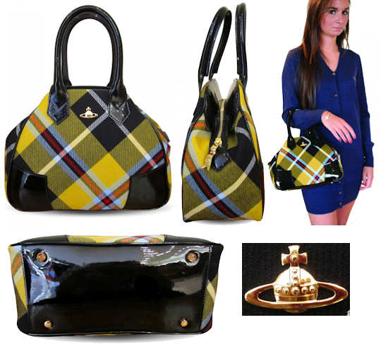 Vivienne Westwood Tartan Winter Bag 4583