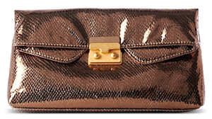 Marc by Marc Jacobs Snake on a Wire Clutch in Bronze