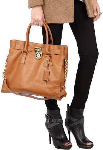 Michael By Kors Brown Hamilton Tote