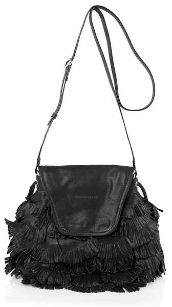 See by Chloe Fluffy Cherry Fringed Bag in Black