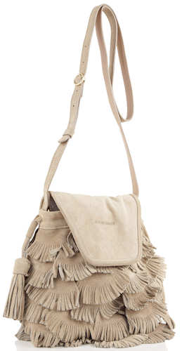 See by Chloe Fluffy Cherry Fringed Bag in Tea