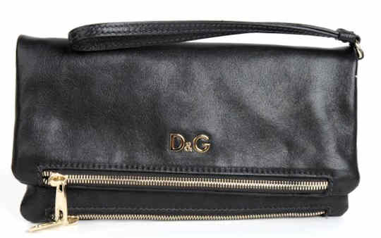 D G Dolce and Gabbana Ania Fold Over Clutch Bag