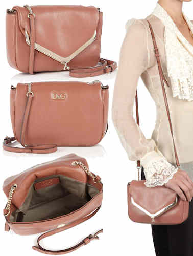 68a1636be9 D G Mary Lou Cross Body Bag in Blush Pink. This Dolce   Gabbana ...