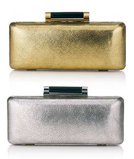 DVF Tonda Clutch in Gold and Silver