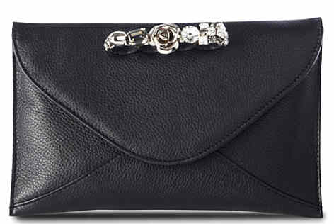 Maison Du Posh Knuckle Deerskin Clutch