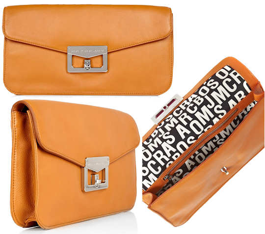 Marc by Marc Jacobs Bianca Envelope Clutch Caramel