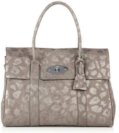 Mulberry Mole Grey Giant Sparkle Leopard Bayswater