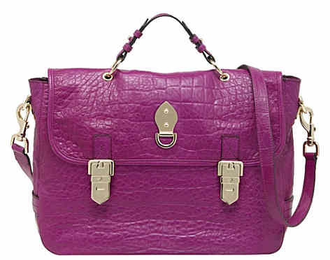 Mulberry Tille Oversized Satchel Bag in Pink Croc