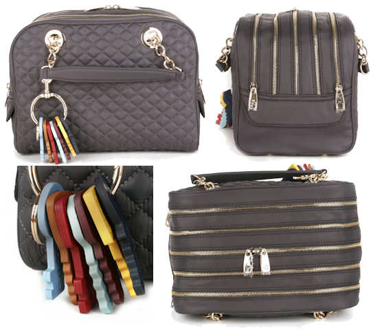 d g Five Zip Lily Glam Bag