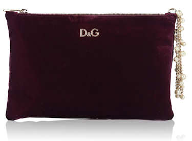 D G Dolce and Gabbana Velvet Clutch