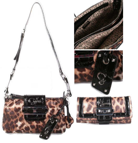 Guess Leopard Print Bag and Purse