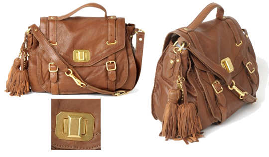 Juicy Couture Leather Turnlock Tassel Bag