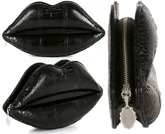 Lulu Guinness Black Lips Clutch