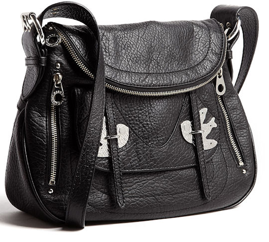 Marc by Marc Jacobs Petal to the Metal Natasha Bag in Black with Silver Hardware