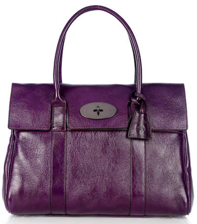 Mulberry Bayswater Red Onion High Pebbled Patent
