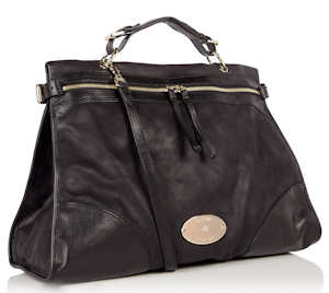 Mulberry Oversized Taylor Satchel in Black
