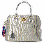 Pauls Boutique Maisy Bag silver nude animal print